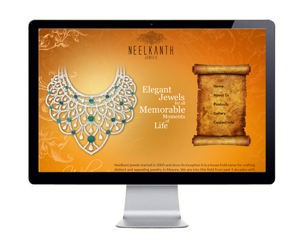 Neelkant Jewels  - Website Designed and Developed by Global Buzz