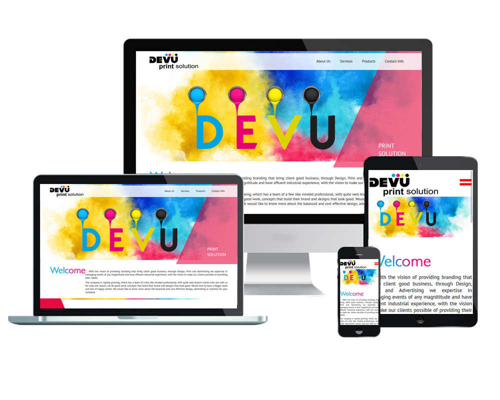 Devu Print Solution - Website Designed and Developed by Global Buzz