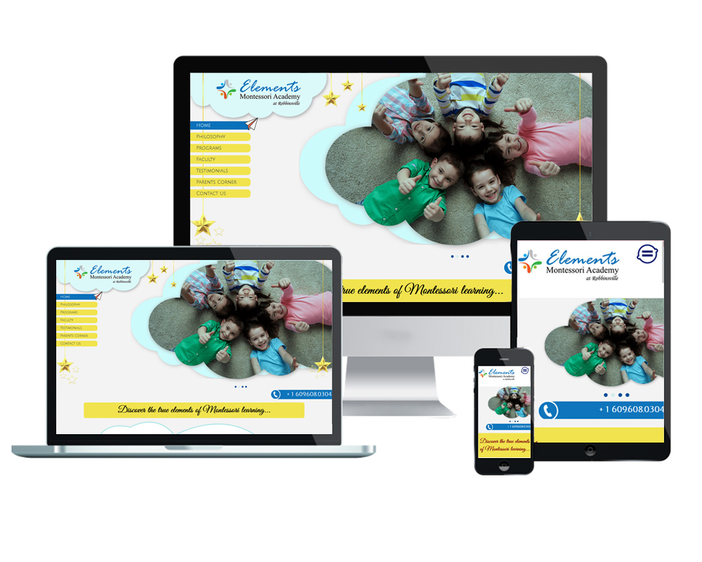 Elements Montessori Academy - Website Designed and Developed by Global Buzz