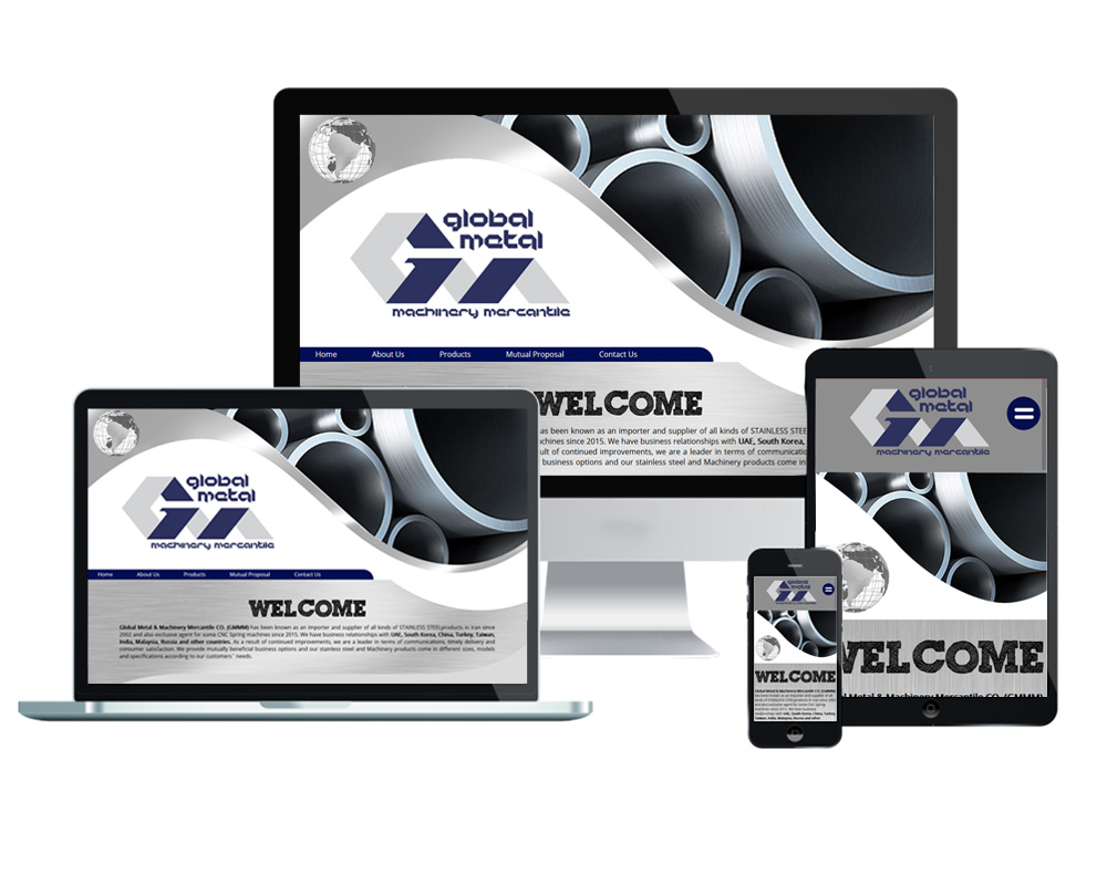 Global Metal and Machinery Mercantile - Website Designed and Developed by Global Buzz