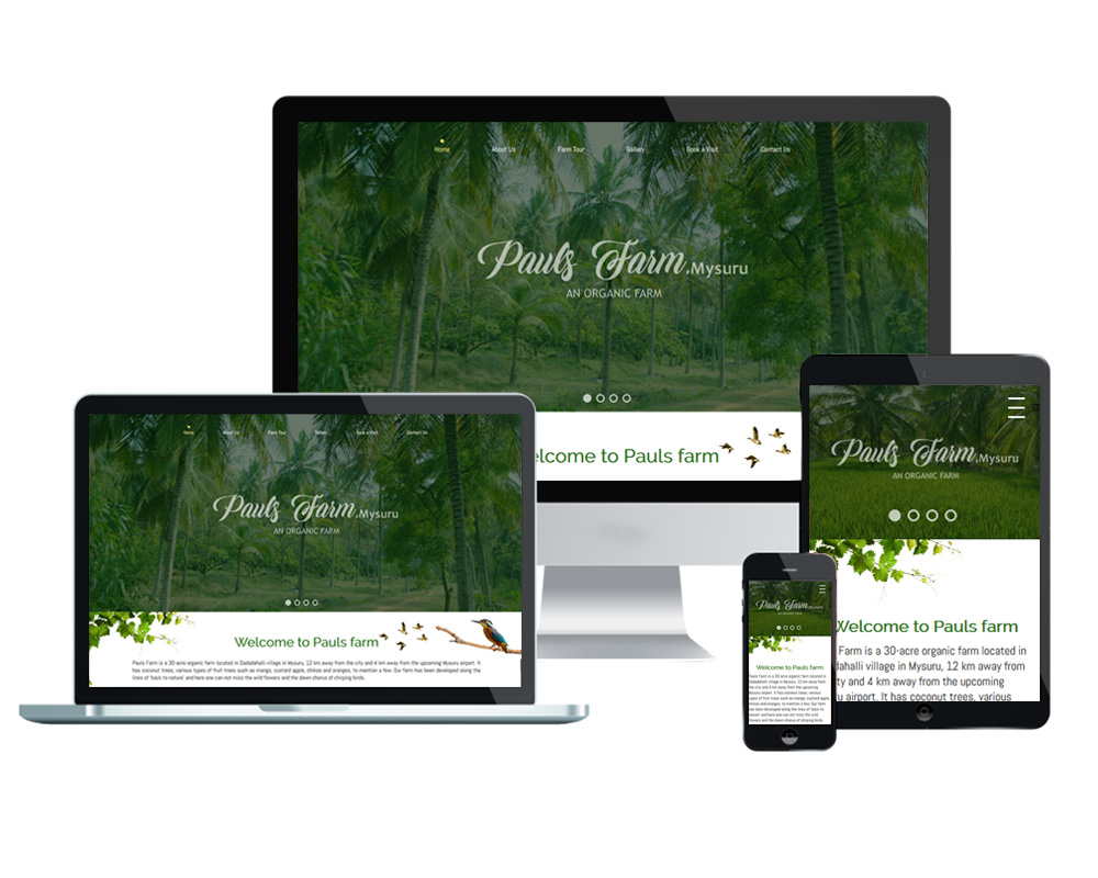 Pauls Farm - Website Designed and Developed by Global Buzz