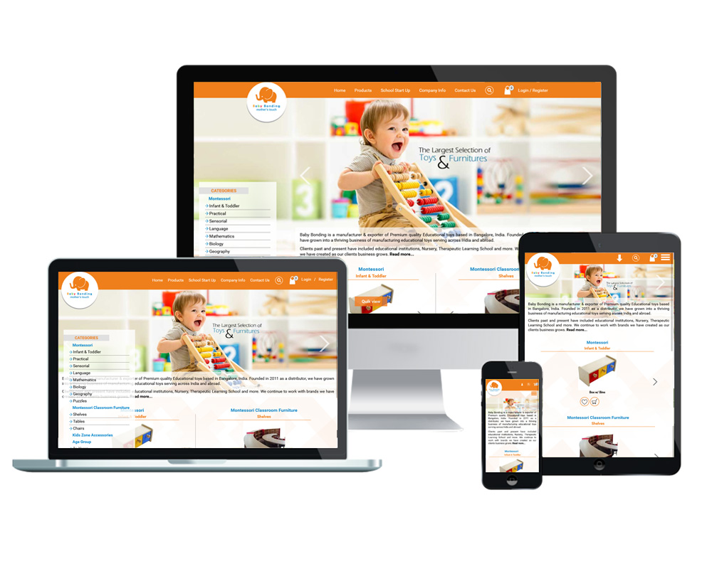 Baby Bonding - Website Designed and Developed by Global Buzz