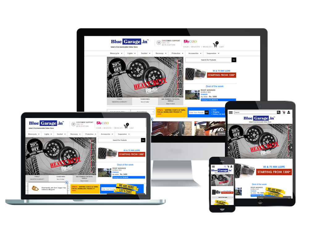 Blue Garage - Website Designed and Developed by Global Buzz