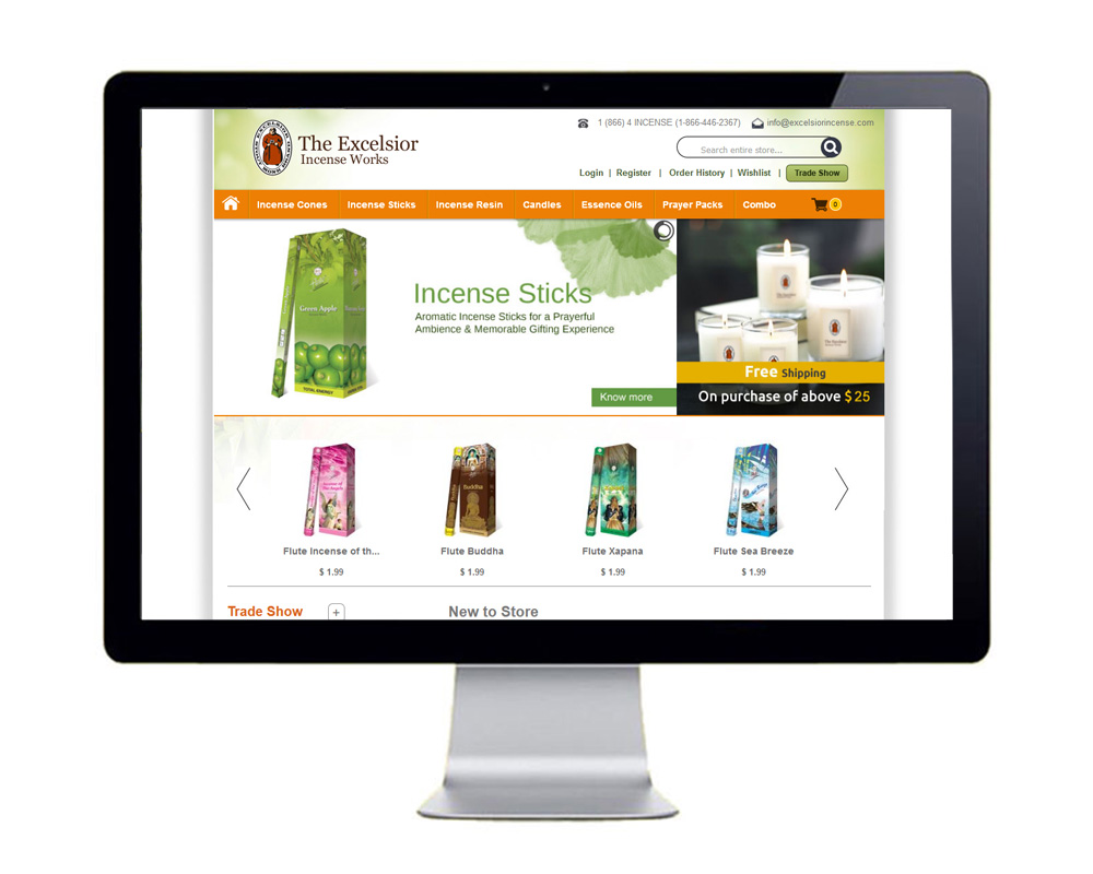 The Excelsior Incense Works - Website Designed and Developed by Global Buzz