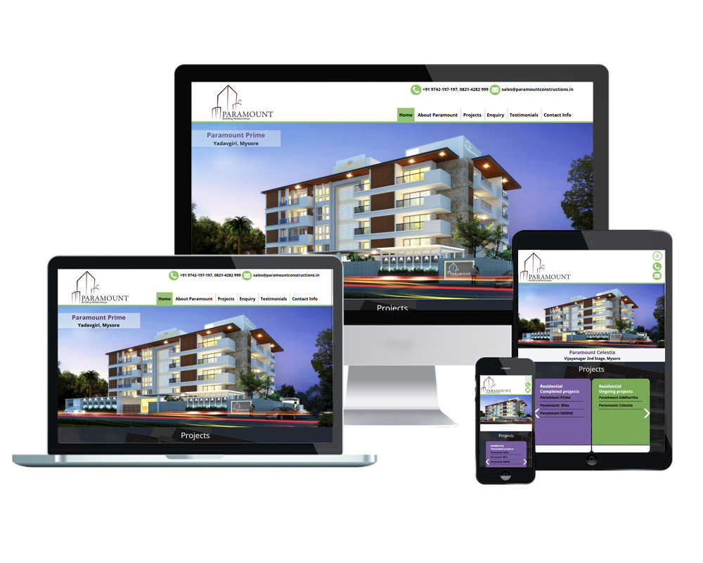 Paramount Constructions - Website Designed and Developed by Global Buzz