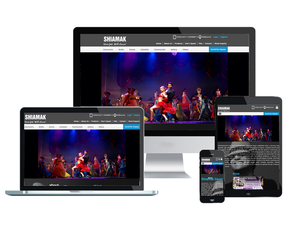 Shiamak Davar - Website Designed and Developed by Global Buzz